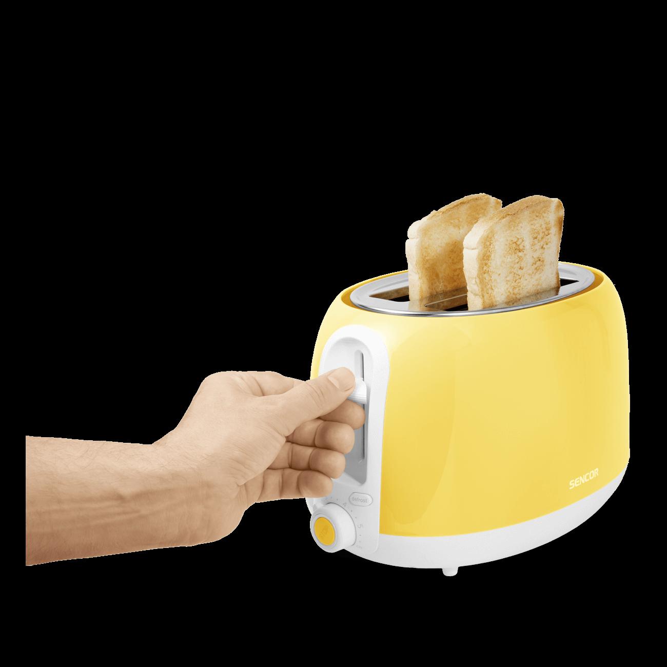 Sencor 2 Slice Toaster Bread Toasting Kitchen Electric Toast Pastel Lime Green
